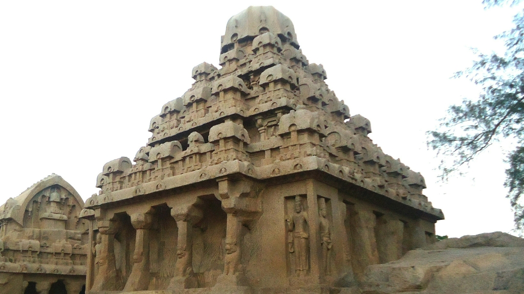 Mahabalipuram - A picture of one of the seven pagodas