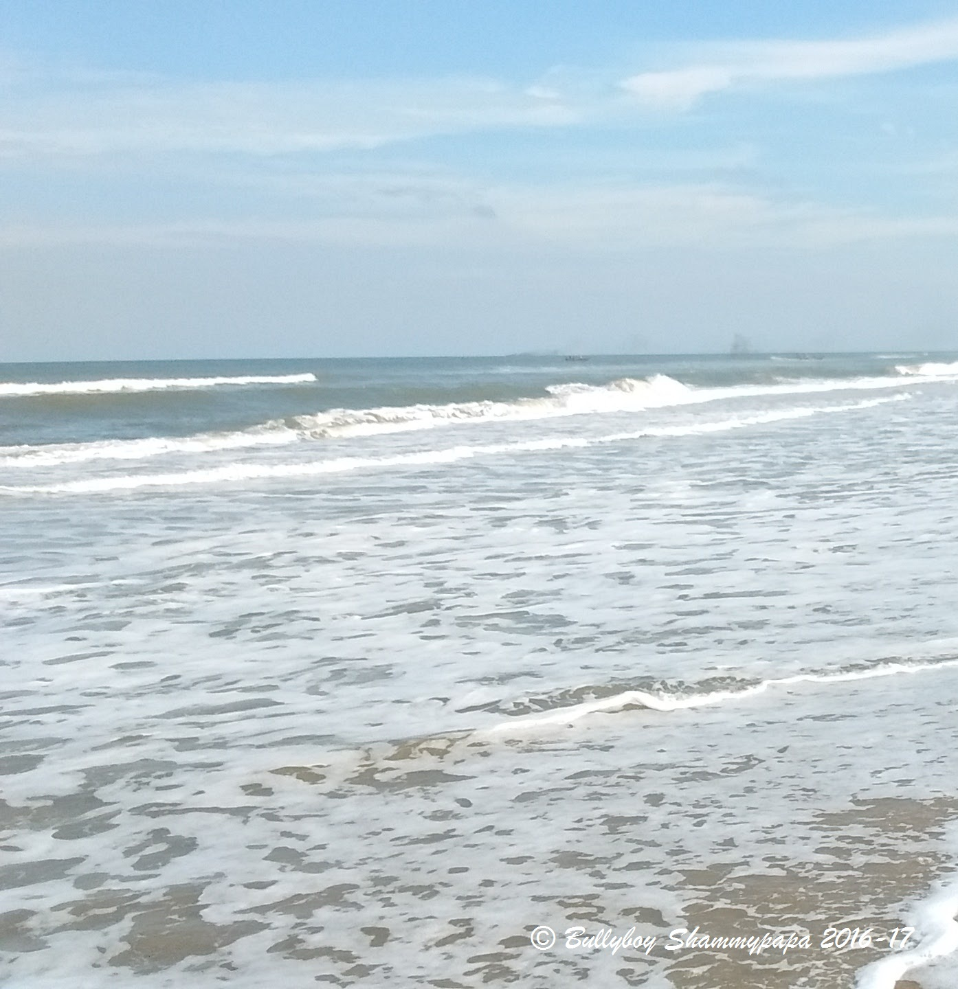 A picture of waves of the sea