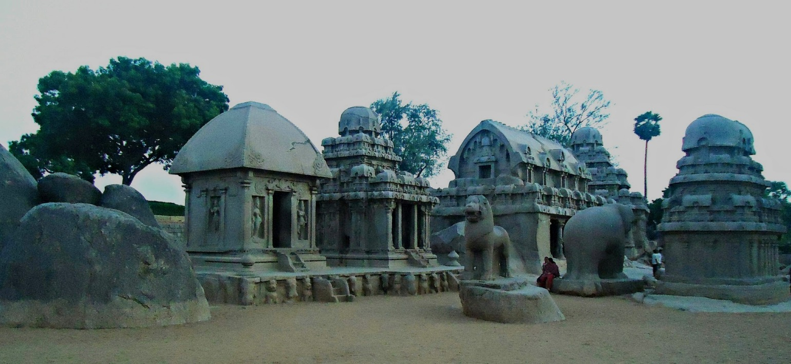 A Rich Cultural Heritage - A view of the Seven Pagodas at the Mahabalipuram