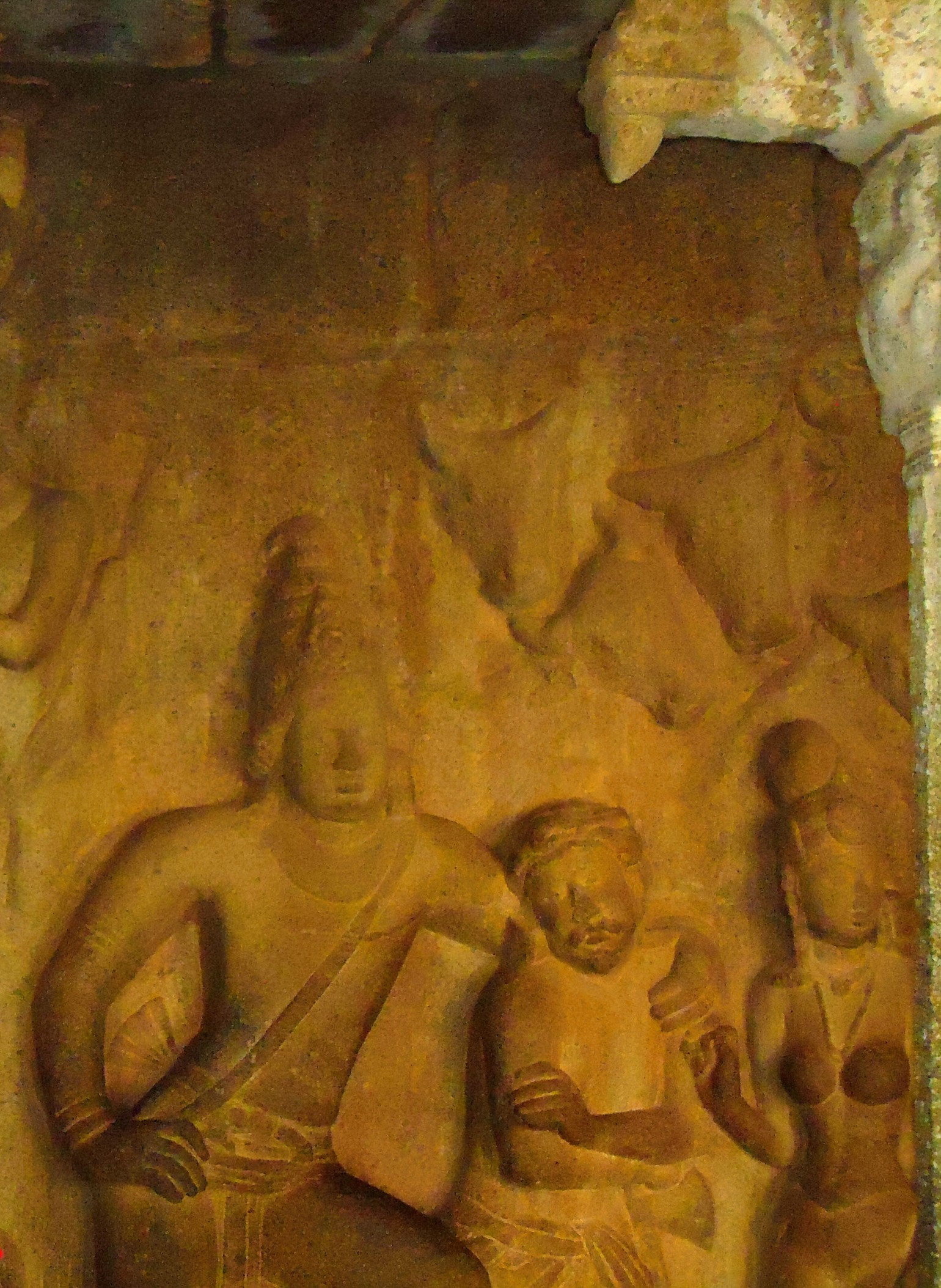 A Rich Cultural Heritage - A picture of Cave Sculptures of Lord Krishna and his friend Kuchela