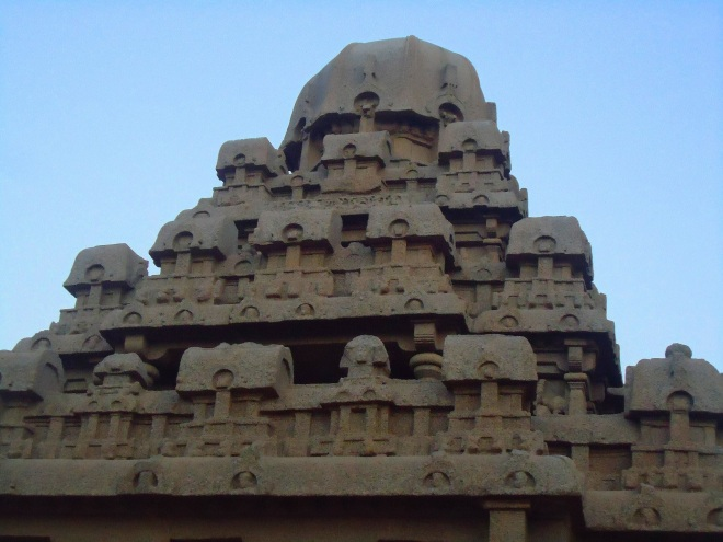 A Rich Cultural Heritage - A skyline of a sculpted temple tower at the Mahabalipuram