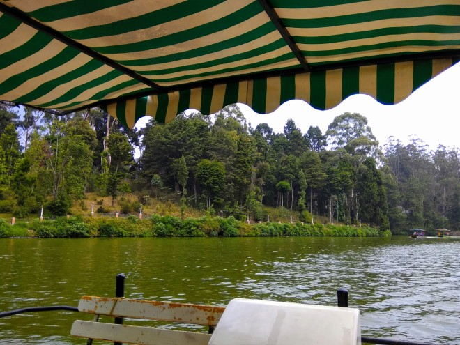 View of Ooty Lake while boating