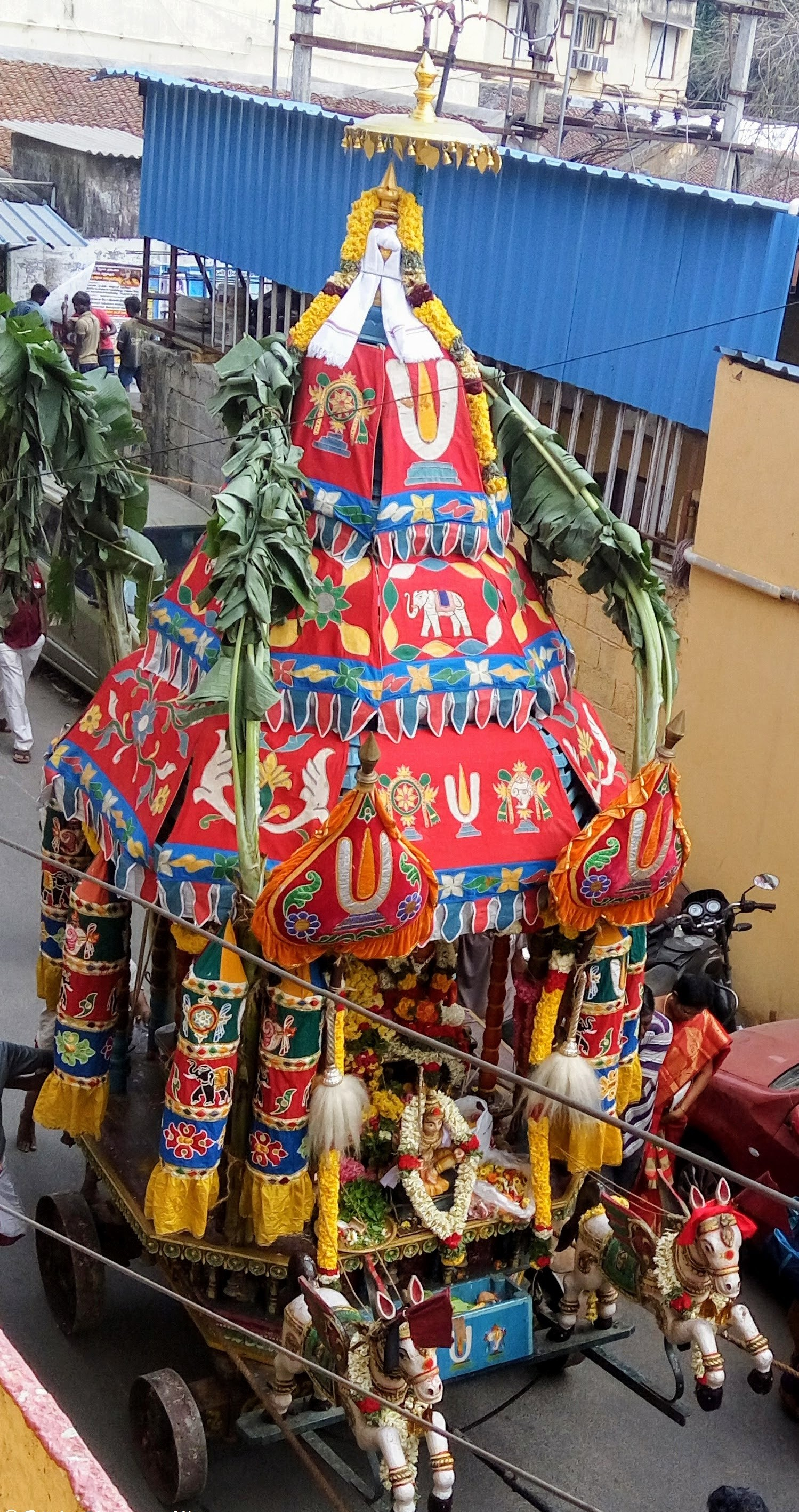 Every Tuesday - An Unusual Sight - A view of a temple car procession
