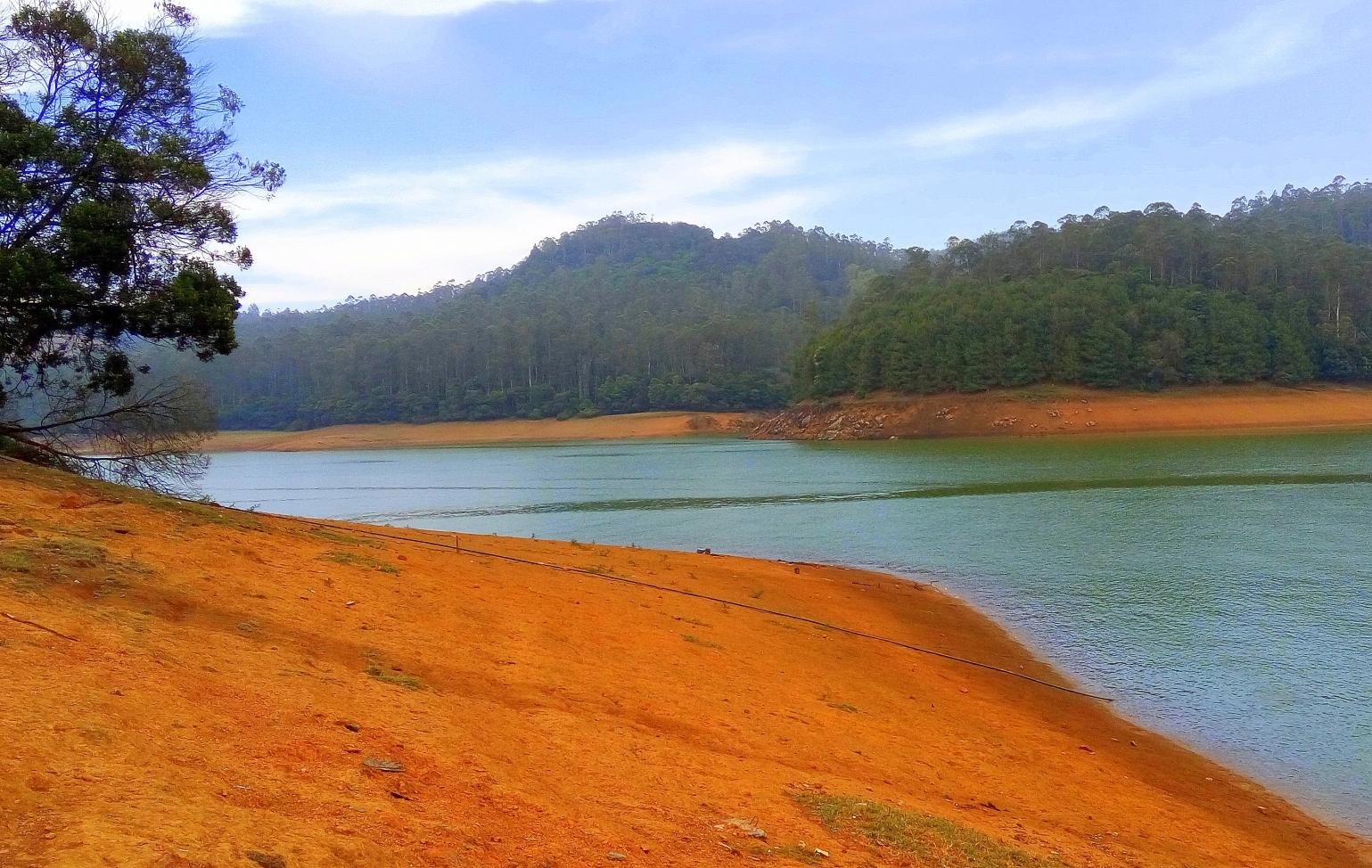 Sand on Mountains - A mountain lakeside view
