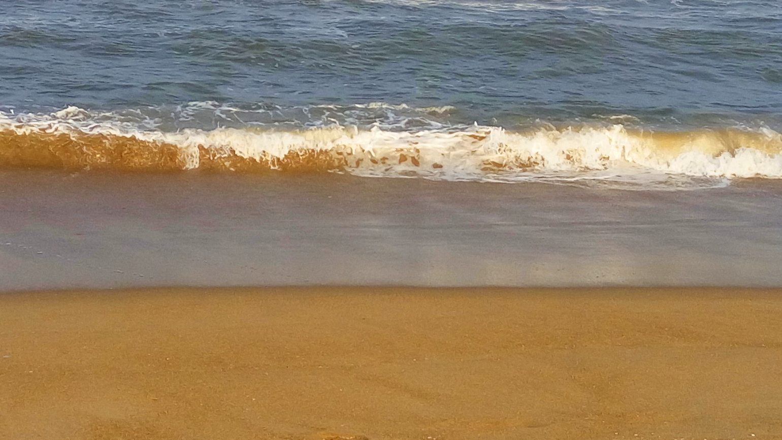 Sands on Beach - A view of a seashore with wet sand