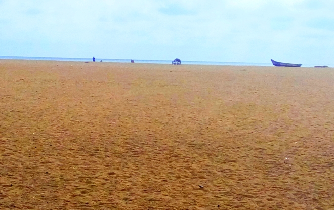 Sands on Beach - A view of a Beach with dry sands