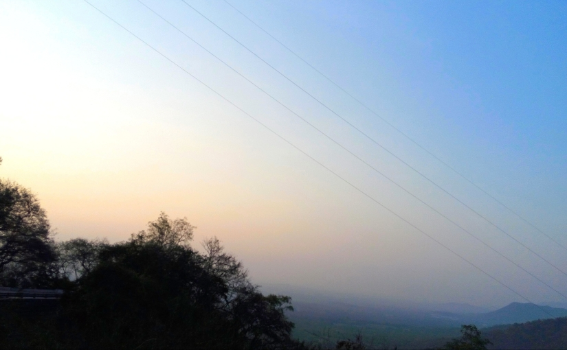 Sky is not the limit! - A view of the sky from a mountain top at dawn