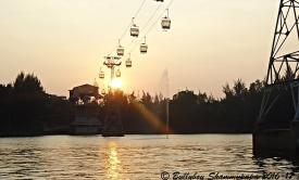 Sunset at Amusement Park