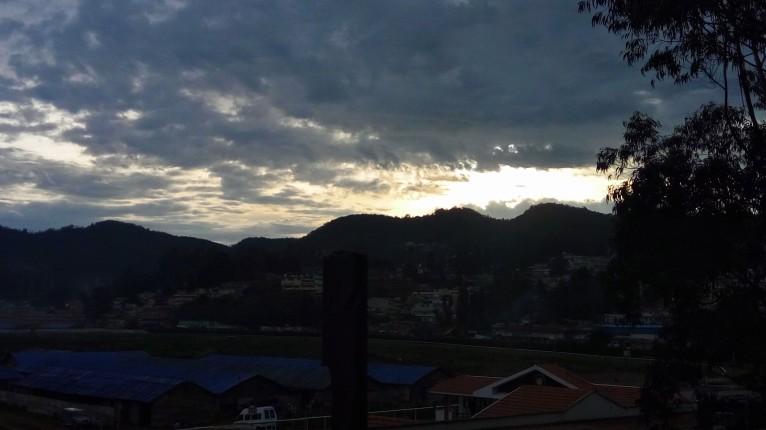 Dawn on Mountains