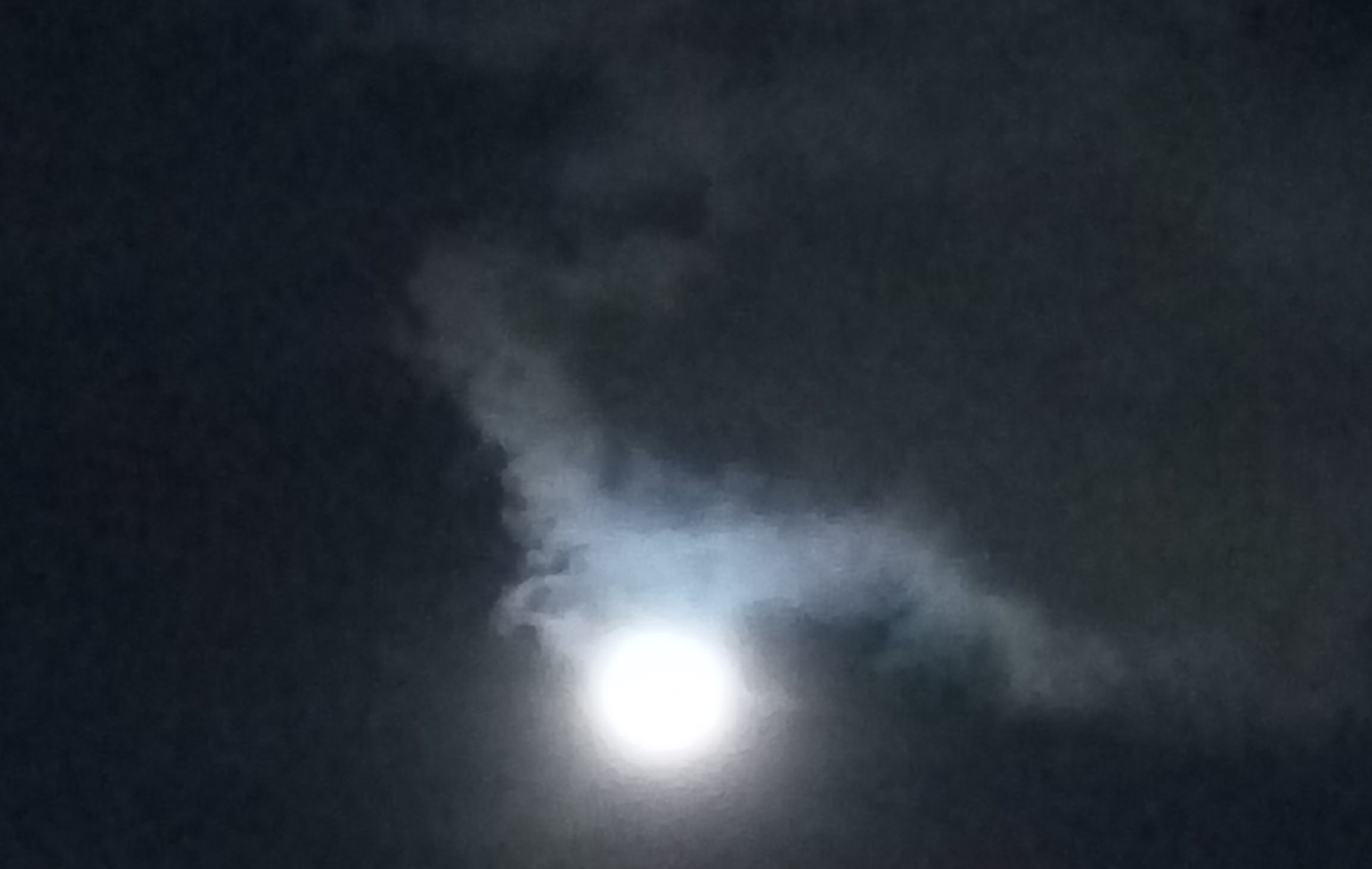 Moon or Mom? - A view of the Clouds unveiling the Moon