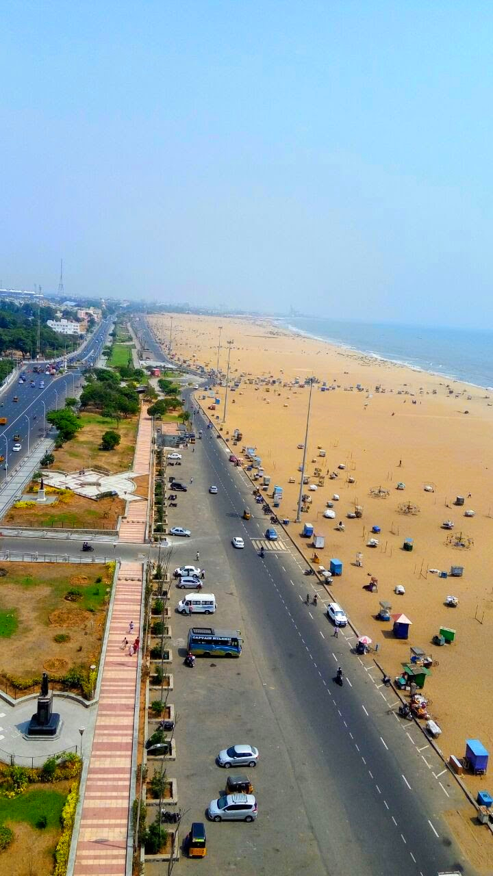My Place in the World - A picturesque view of Chennai's Marina Beach
