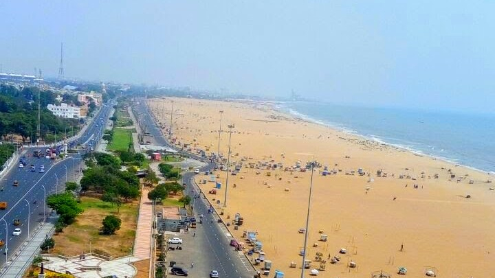 My Place in the World - A picturesque view of Marina Beach in Chennai